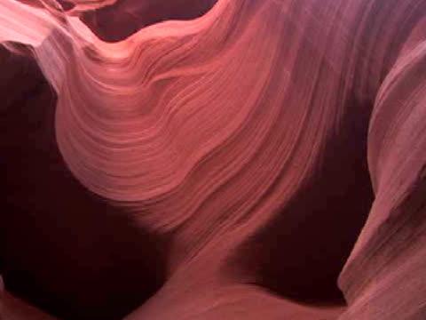 ecu, zi, rock formation, antelope canyon navajo tribal park, arizona, usa - スロット渓谷点の映像素材/bロール