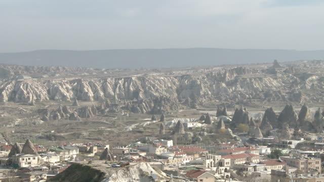 rock formation in cappadocia, turkey - rock strata stock videos & royalty-free footage