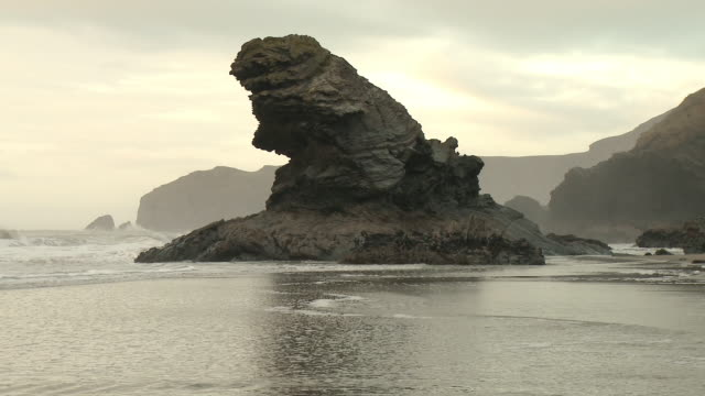 Rock formation on coast, UK