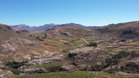 rock formations along the road / macha, bolivia - south america stock videos & royalty-free footage