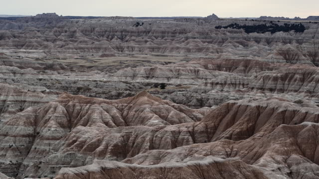 WS, PAN, Rock formations at Badlands National Park, South Dakota, USA