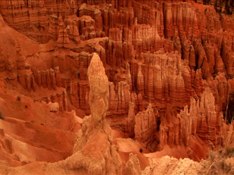 vidéos et rushes de ms, zi, cu, rock formations, bryce canyon national park, utah, usa - grès