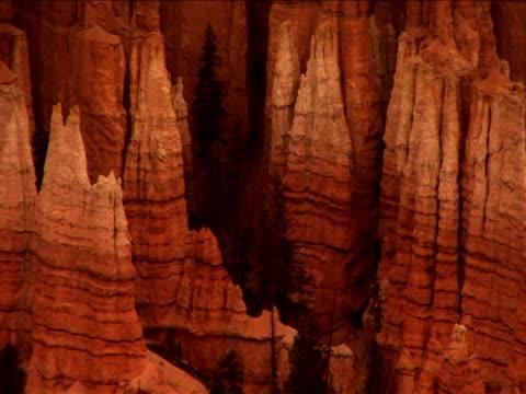 ms, pan, ha, rock formations, bryce canyon national park, utah, usa - ムラがある点の映像素材/bロール