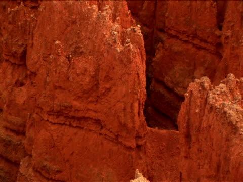 vidéos et rushes de cu, zo, ms, ha, rock formations, bryce canyon national park, utah, usa - grès