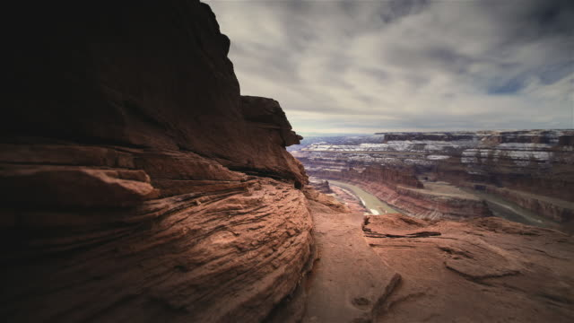 t/l ws pan rock formations in canyonlands national park, utah, usa - canyonlands national park stock videos & royalty-free footage