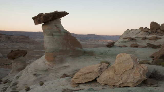 WS T/L Rock formations in desert during sunset / Page, Neveda, United State