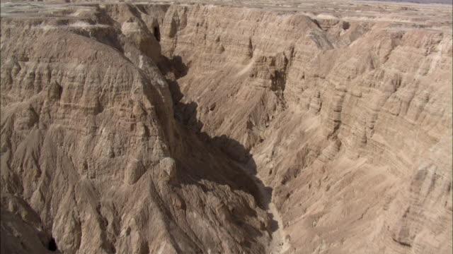 AERIAL Rock formations in Negev Desert, Israel