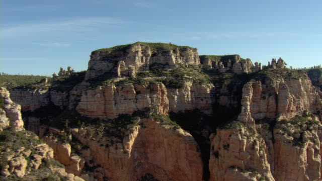 rock formations resemble castles in an arizona desert. - mesa stock videos and b-roll footage