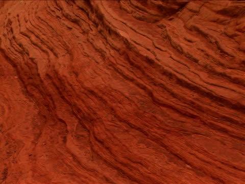 vidéos et rushes de cu, pan, rock formations, zion national park, utah, usa - grès