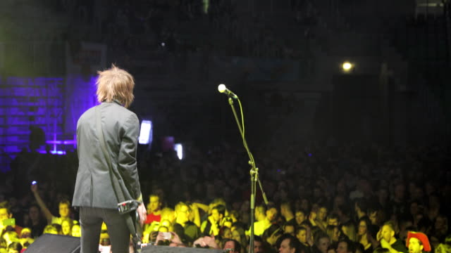 Rock Guitarist and Singer on Stage