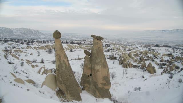 rock hoodoo and cappadocia valley - rock hoodoo stock videos & royalty-free footage