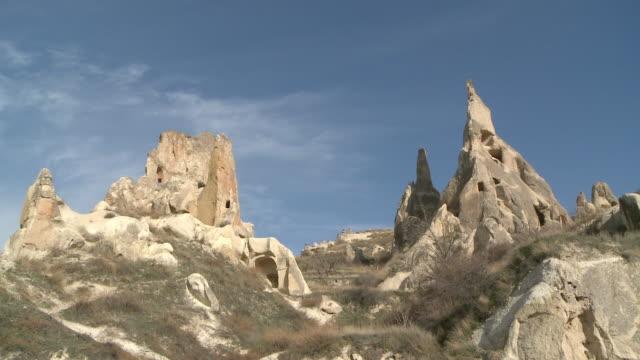 rock house in cappadocia, turkey - rock strata stock videos & royalty-free footage