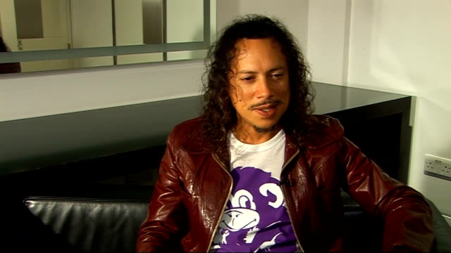 interview with lead guitarist of metallica; hammett interview sot - on being inducted in the rock and roll hall of fame in april. great to have... - メタリカ点の映像素材/bロール
