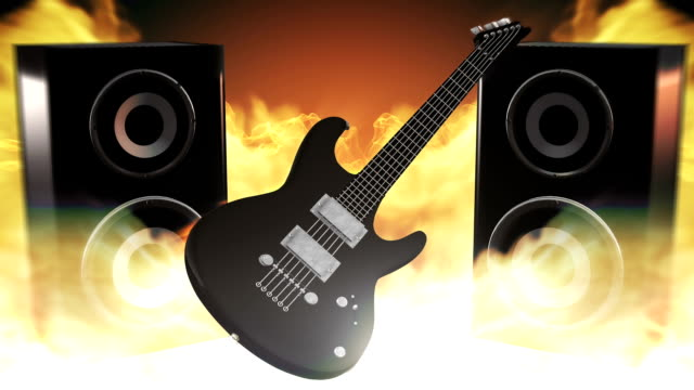 rock music (fire) - loop - adobe after effects stock videos and b-roll footage