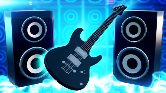 rock music (blue) - loop - adobe after effects stock videos and b-roll footage