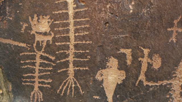 cu tu rock paintings / moab, utah, usa - animal representation stock videos & royalty-free footage