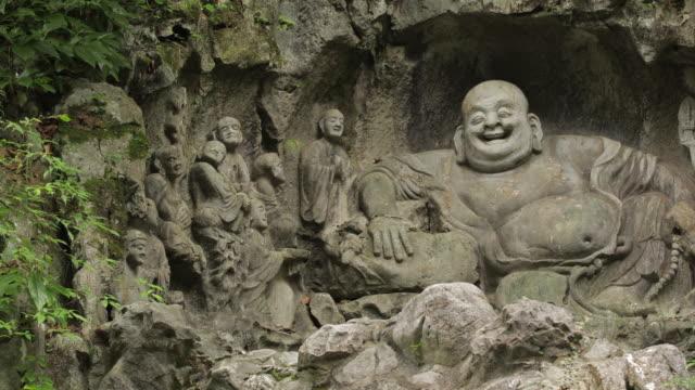 stockvideo's en b-roll-footage met rock reliëfs in de tempel - tempel