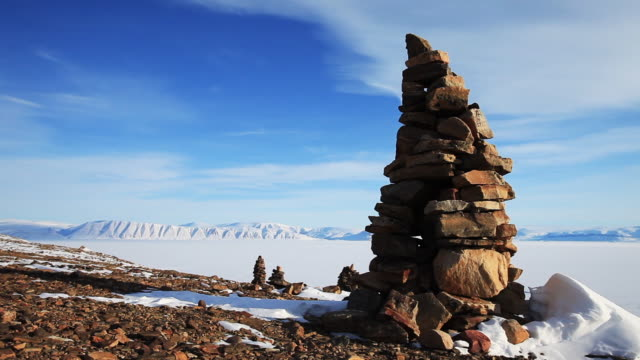 rock sculpture in greenland, wide - sculpture stock videos and b-roll footage