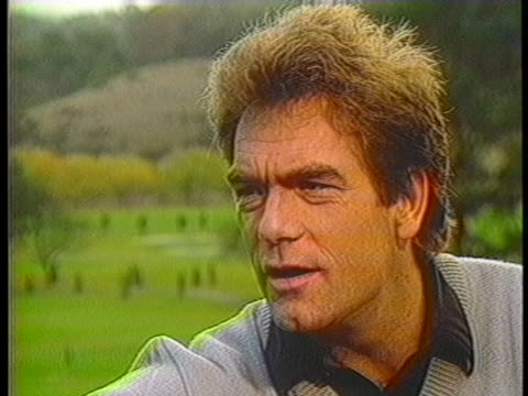 rock singer huey lewis discusses his career which includes a recent tour in europe. - ポピュラーミュージックツアー点の映像素材/bロール