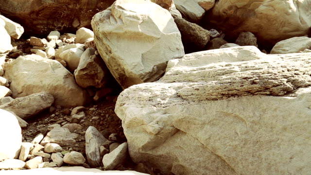 sliding rock - boulder rock stock-videos und b-roll-filmmaterial