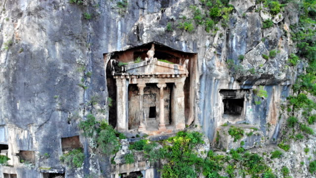 rock tombs in fethiye - fethiye stock videos and b-roll footage