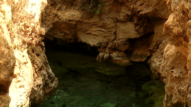 rock, water, grotto - grotto cave stock videos and b-roll footage