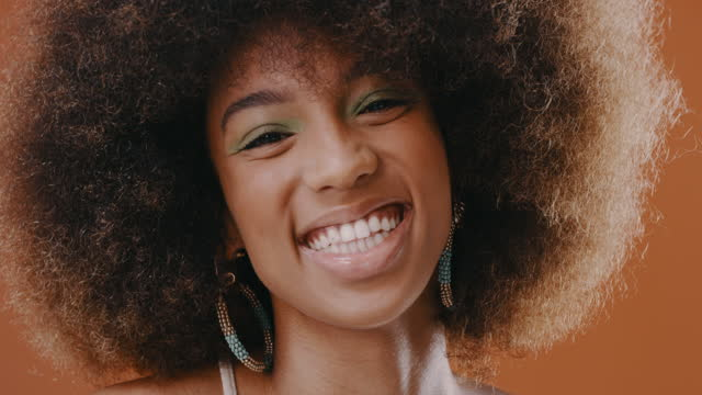 rock your natural hair, you might inspire someone without knowing it! - natural hair stock videos & royalty-free footage