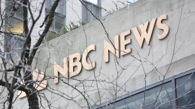 rockefeller center new york city nbc news signage nbc rockefeller plaza on february 22 2013 in new york new york - nbc stock videos & royalty-free footage
