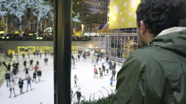 rockefeller center - ice skating stock videos & royalty-free footage