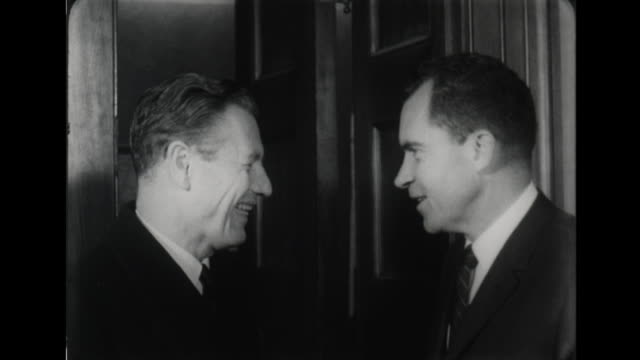 rockefeller speaks about the republican party calling it a 'minority party' - ネルソン a ロッカフェラー点の映像素材/bロール