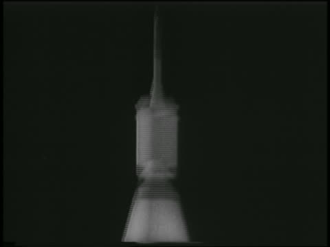 rocket carrying first us satellite, explorer i, ascending past camera at night - space exploration stock videos & royalty-free footage