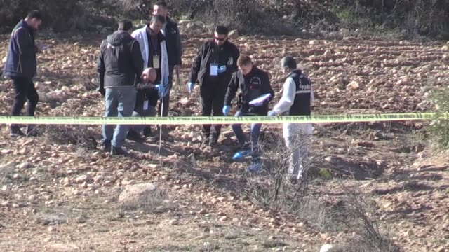 rocket fired by pyd/pkk terrorists in syria hit turkey's border province of kilis on january 30, 2018 amid the ongoing operation olive branch which... - isil konflikt stock-videos und b-roll-filmmaterial