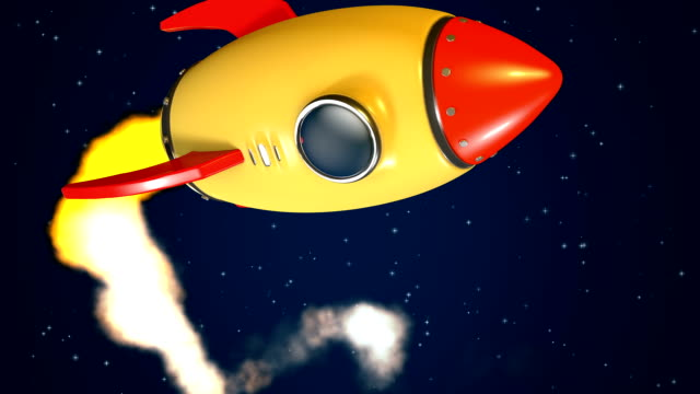 rocket fly by +matte key - cartoon stock videos & royalty-free footage