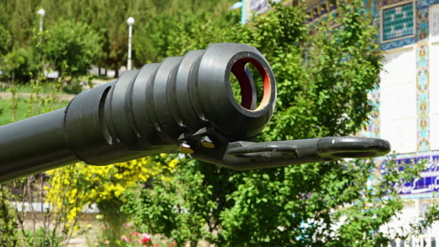 a rocket launcher's muzzle - rocket launcher stock videos & royalty-free footage