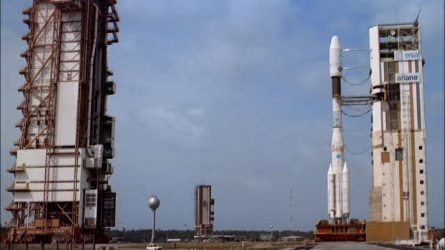 MS rocket on launch pad, Guiana Space Centre, Kourou, French Guiana