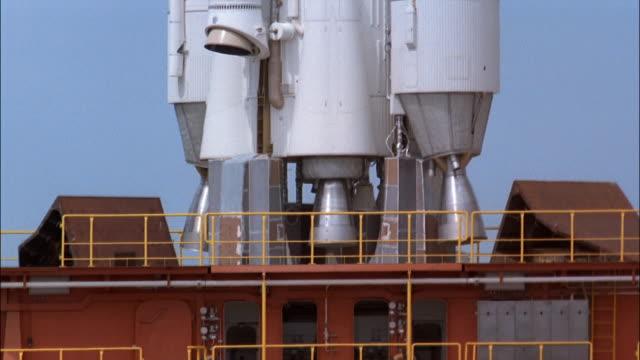 CU, TU rocket on launch pad, Guiana Space Centre, Kourou, French Guiana