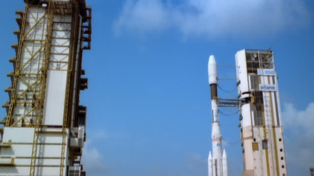 WS, TD, Rocket on launching site in Guiana Space Centre, French Guiana