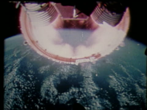 rocket point of view of stage separation with earth in background - 1997 stock videos & royalty-free footage