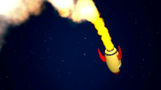 Rocket travel to camera +matte key