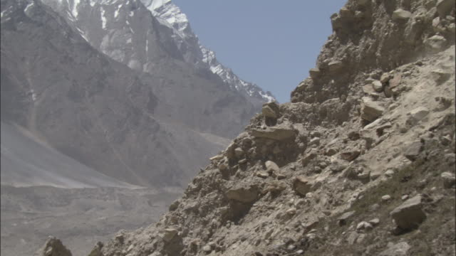 rockfall, tapovan, india available in hd. - boulder rock stock videos and b-roll footage