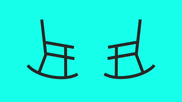 rocking chair - vector animate - chairperson stock videos and b-roll footage