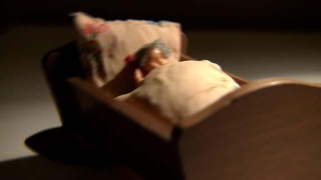 rocking crib - bed stock videos & royalty-free footage
