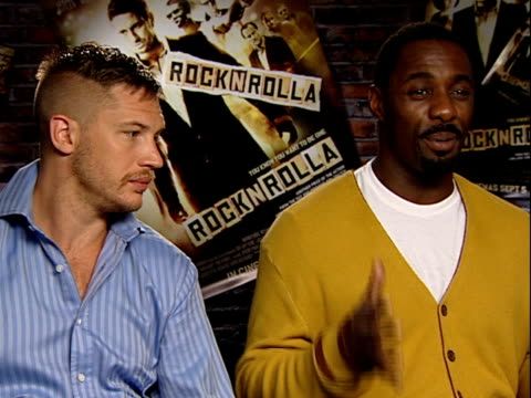 'rocknrolla' film director and cast interviews how it's an exciting time in the us at the moment / whether the other cast members are jealous of... - ali larter stock videos and b-roll footage