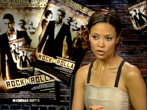 'RocknRolla' film Director and cast interviews Thandie Newton interview SOT On her amazing character getting into the part being emotionless / being...