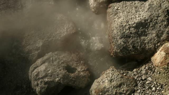 a rockpool of boiling hot water bubbles away at the reykjanes peninsula in iceland.  - heat temperature stock videos and b-roll footage