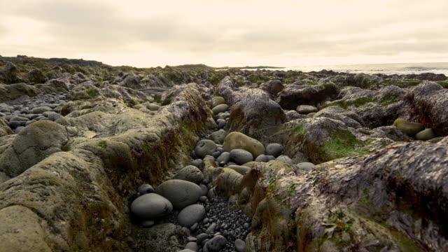 Rocks and stones on Icelandic beach