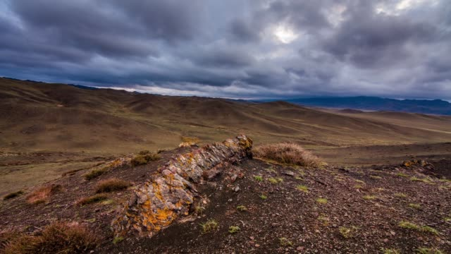 rocks at sunset. mongolia, gobi - independent mongolia stock videos and b-roll footage