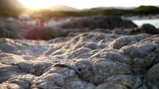 rocks at sunset - sardinia stock videos & royalty-free footage