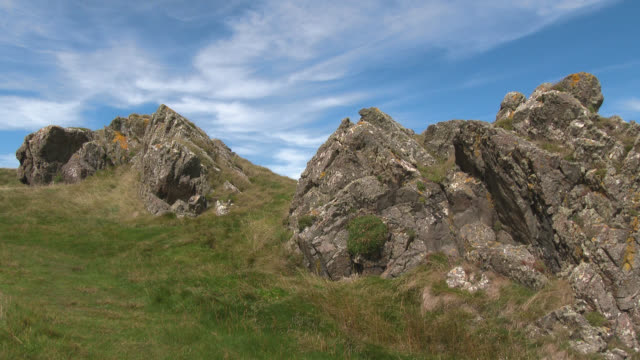 rocks beside the coastal in south west scotland - johnfscott stock videos & royalty-free footage
