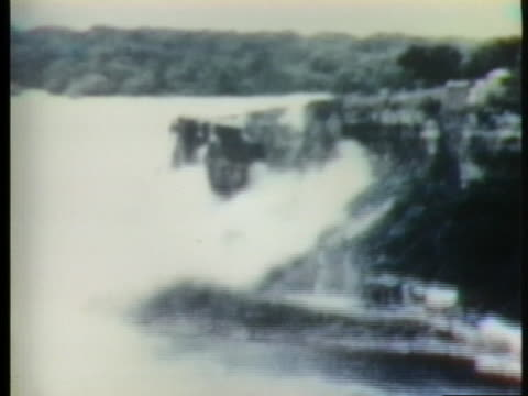 rocks crumble from underneath niagara falls. - 1954 stock videos & royalty-free footage